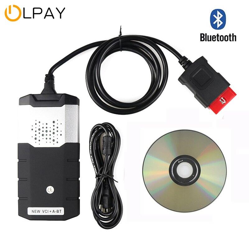 2020 Best New VCI Vd Ds150e Bluetooth 2016.R1 keygen for Delphis obd2 car truck diagnostic tool obd scanner with case